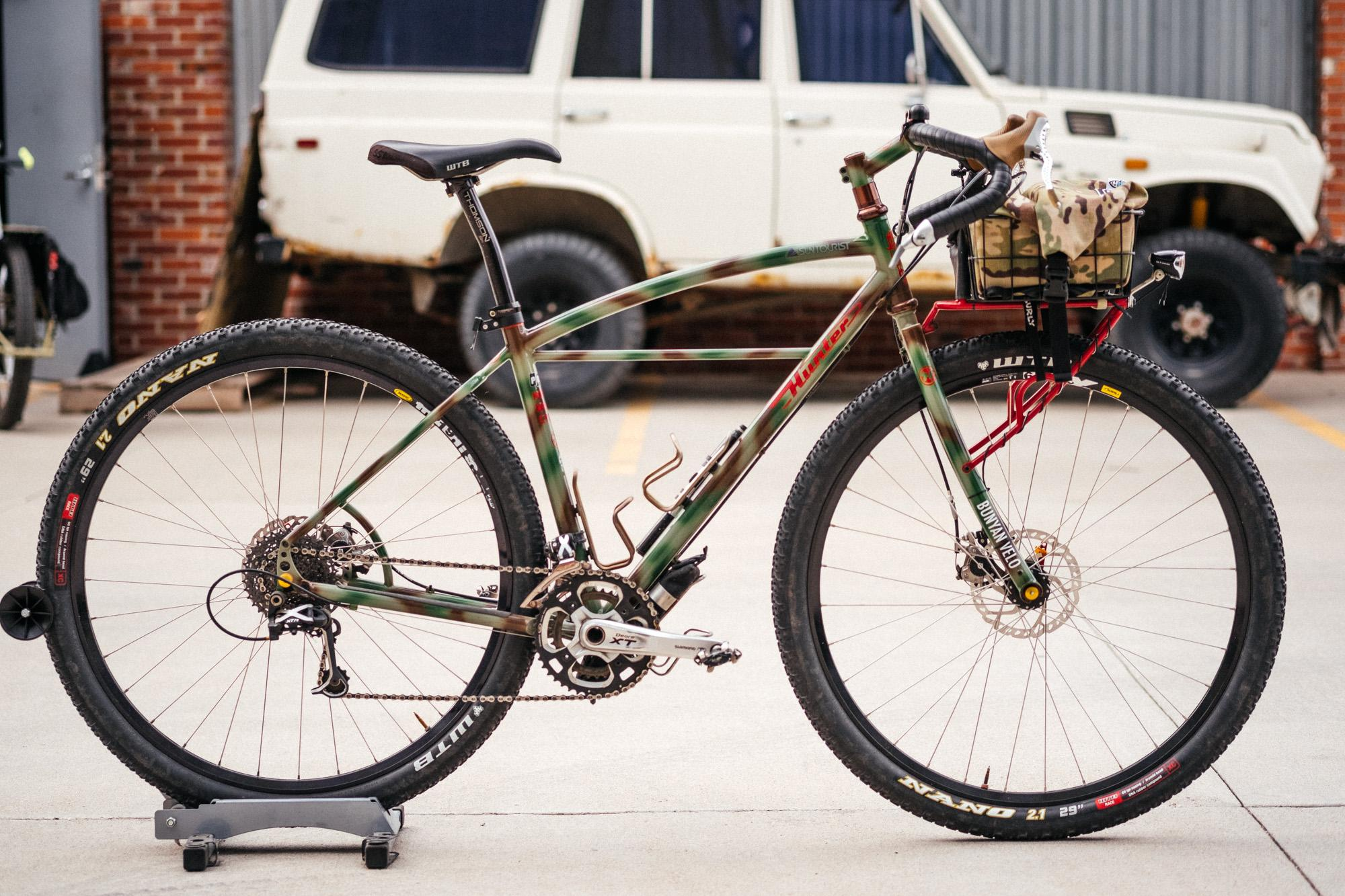 Nate from Monkey Wrench Cycles' Hunter Commando Tourer