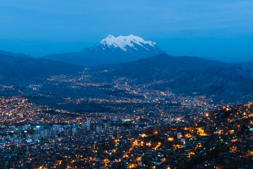 The 21,122' Nevado Illimani looming over La Paz