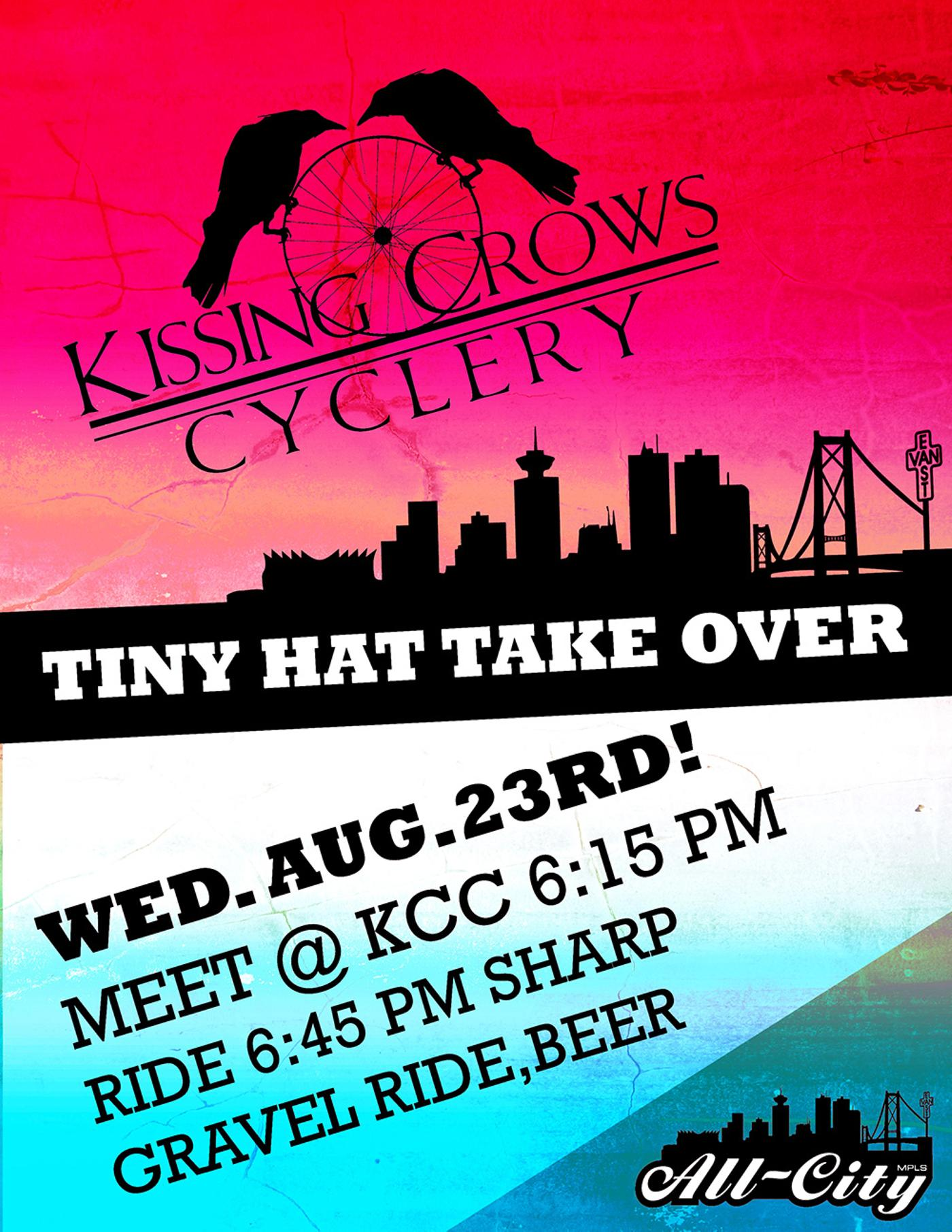 All City Ride + Party August 23 at Kissing Crows Cyclery in Vancouver!