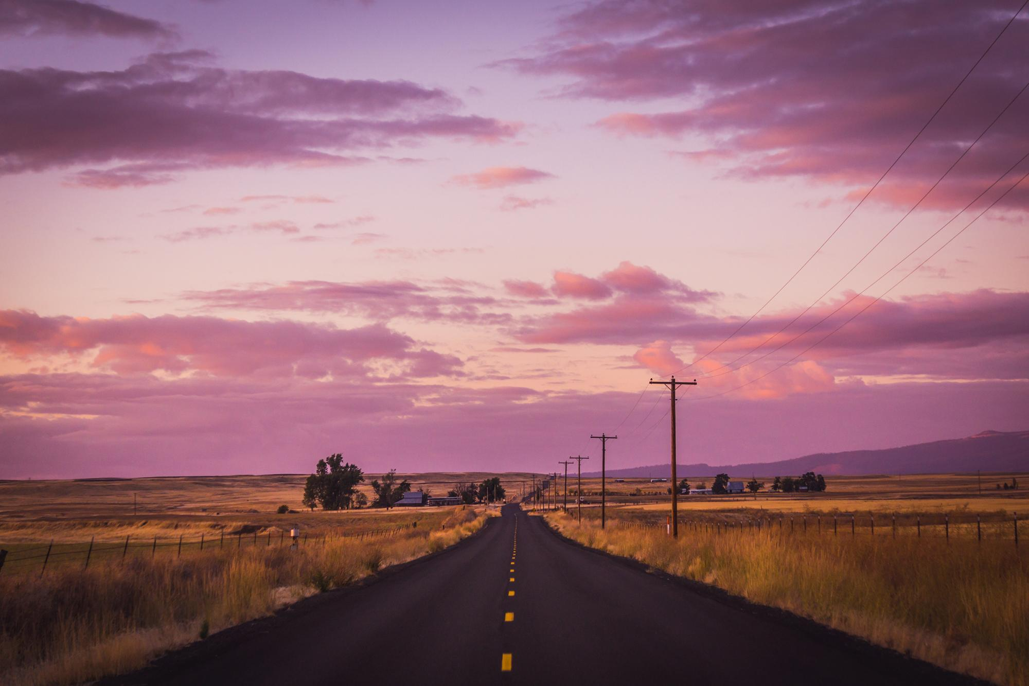 Roads that go on forever.