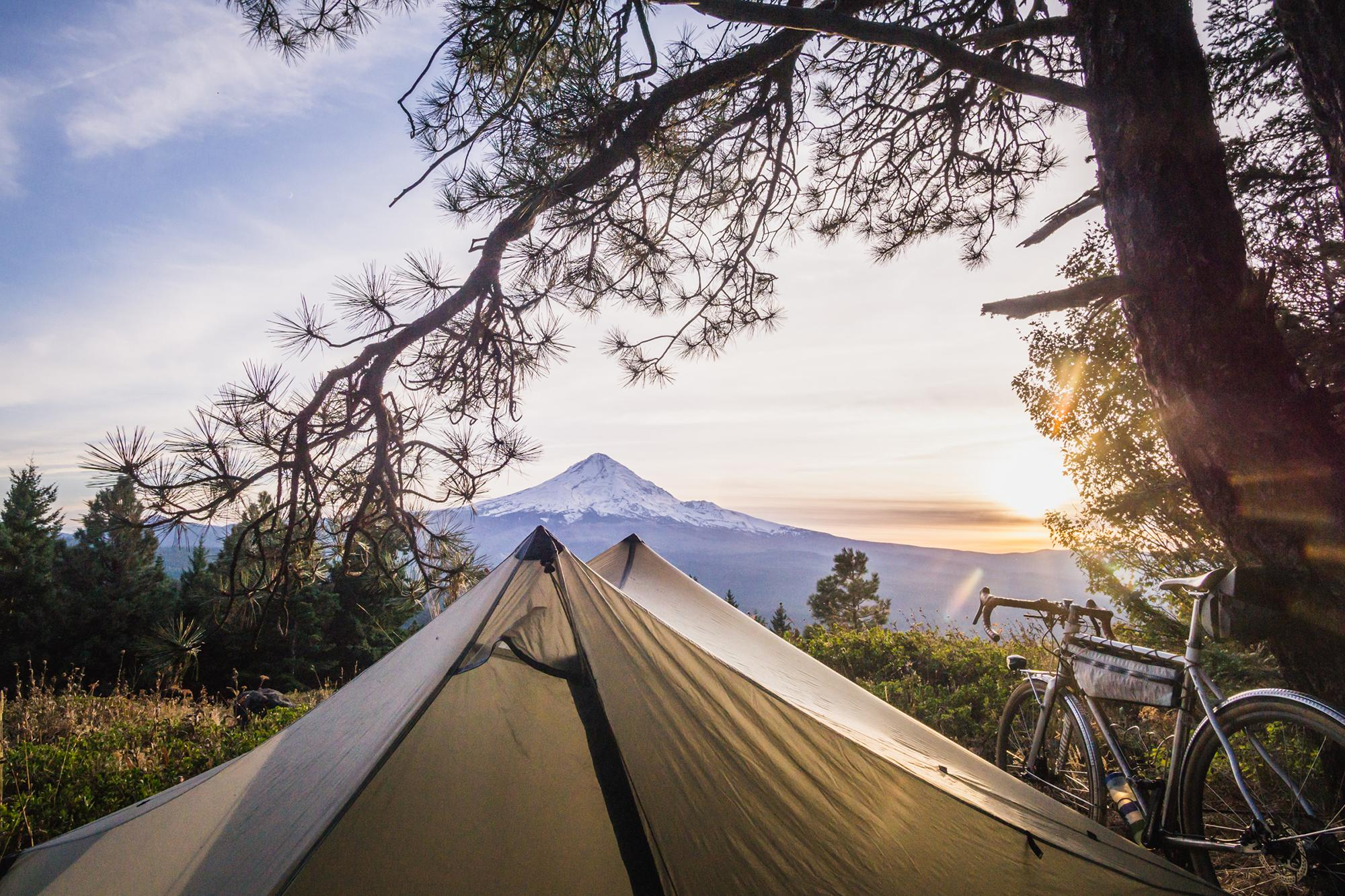 Bush camp with a view