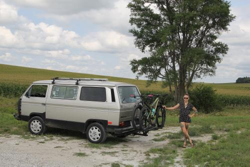 The Goose: my 1985 Volkswagon Vanagon somewhere in Iowa. Built for comfort, not for speed.