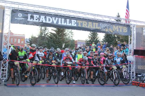 Start of the Leadville 100, that's a bunch of dang pros on the front