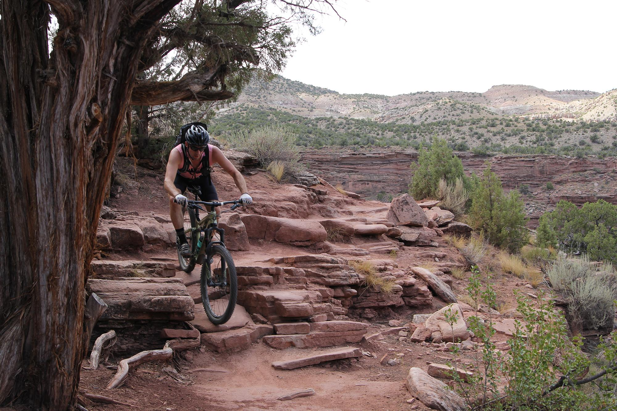 Shredding on Horsethief Bench, Fruita