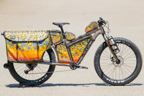 Mike Riemer's Salsa Blackborow with Trout-Inspired Cedaero Bag