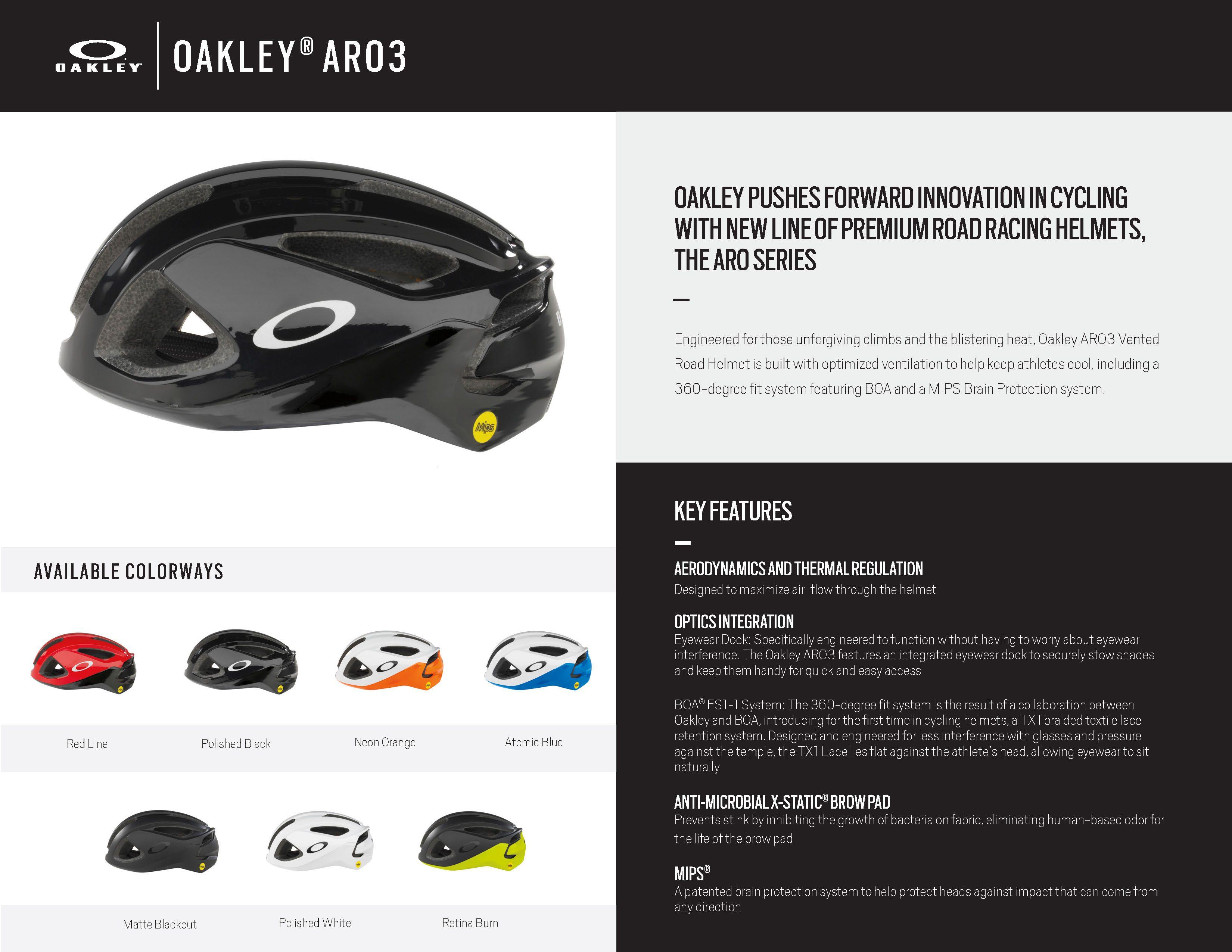 08f68e4c55 Oakley Road Bike Helmets