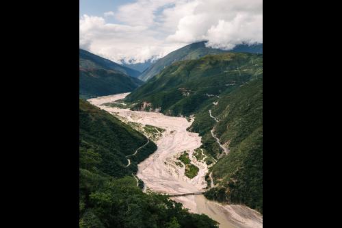 Many rivers converging and heading toward the Amazon