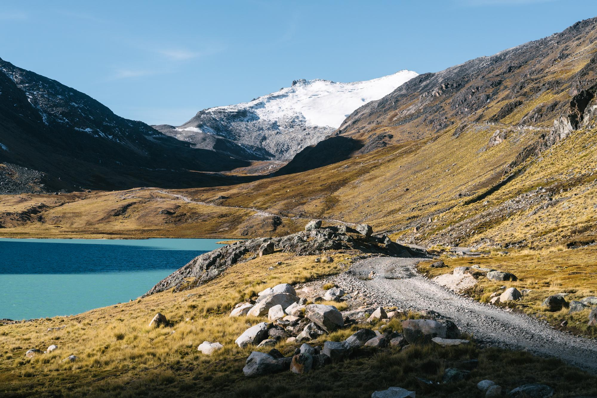 Mint lakes and the glaciers that feed them
