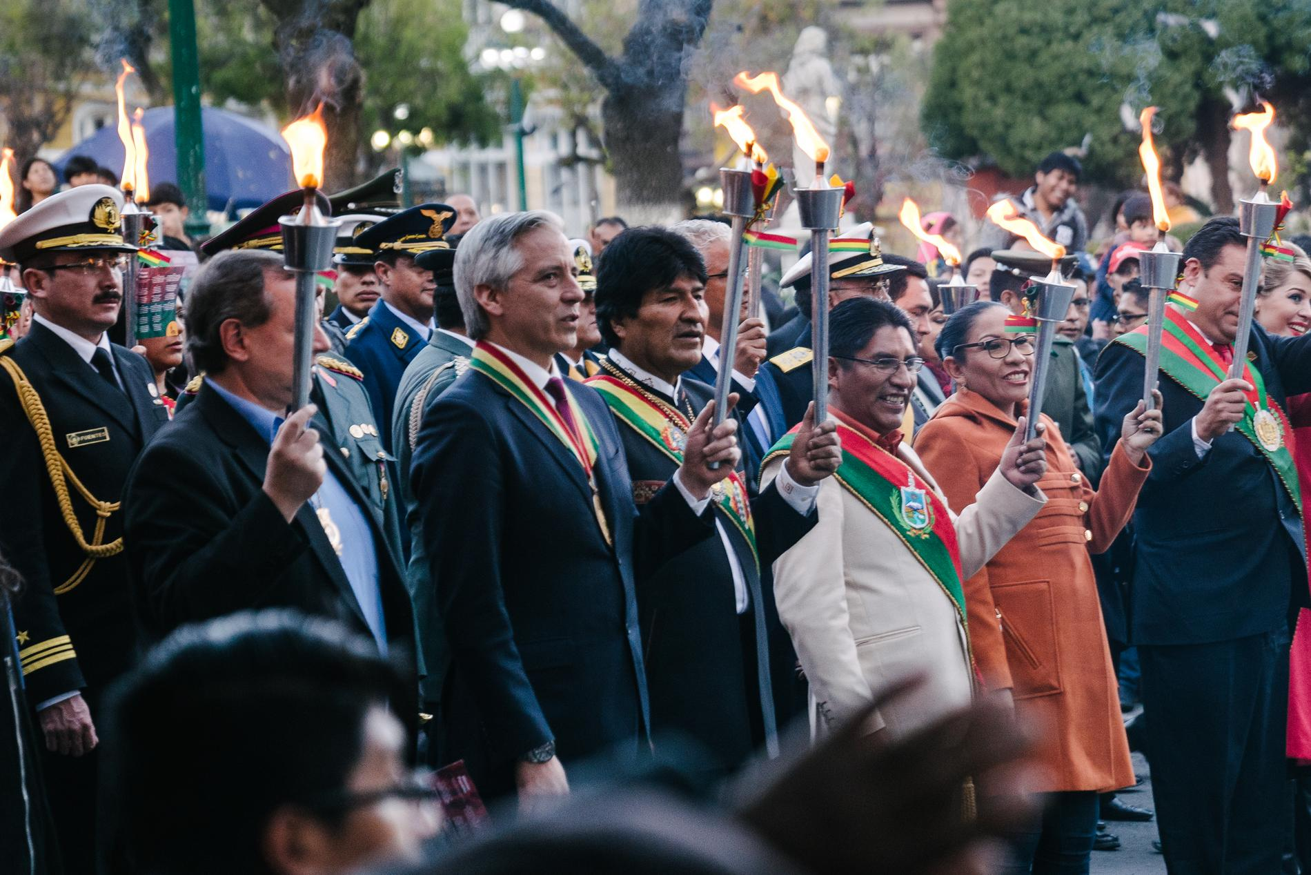 The President and Vice President of Bolivia (Center-Left)