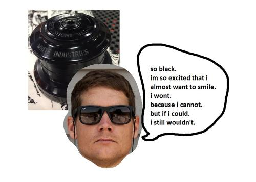 i didnt expect to see sven mcqueen at interbike this year, let alone the white industries booth, and i definitely didnt because he wasnt there.  He would have been pleased by the black on black WI headset tho.