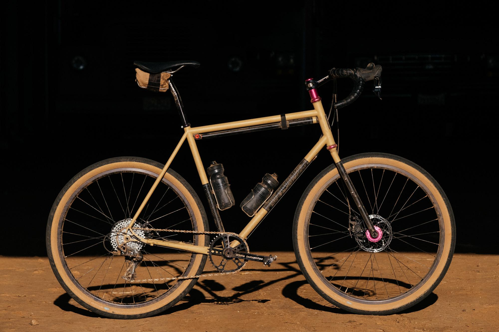A Matte Sand Breadwinner G-Road at Grinduro