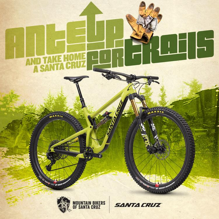 "Mountain Bikers of Santa Cruz Partner with Santa Cruz Bicycles to Launch the ""Ante Up for Trails"""