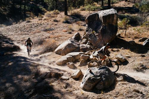 Boulder outcropping.