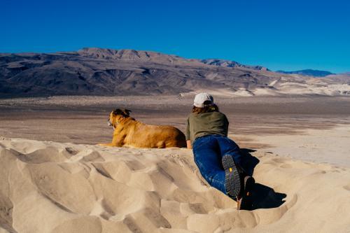 Cold sand, warm sun.