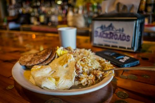 The calorie-dense loaded hashbrowns of BackRoads Food and Spirits
