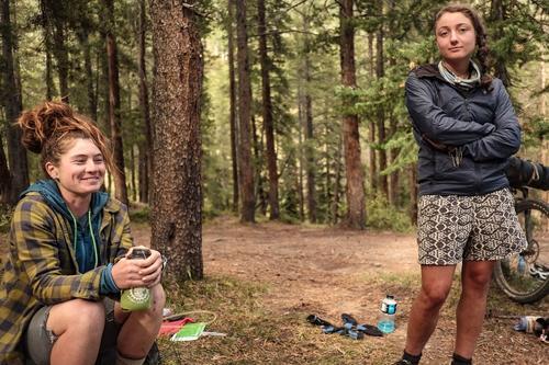 Ari and Kait at camp