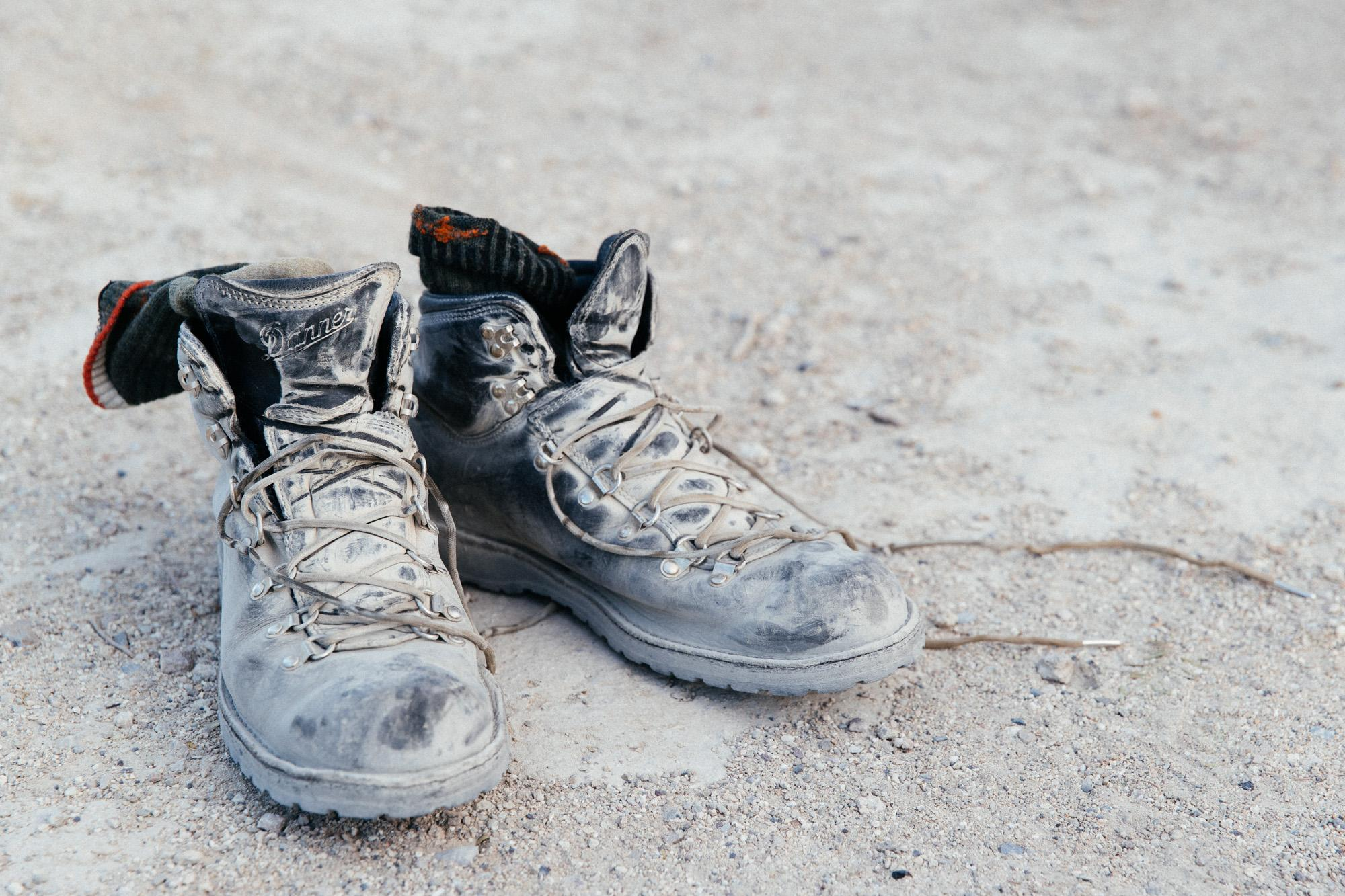 Preferred bikepacking boots.