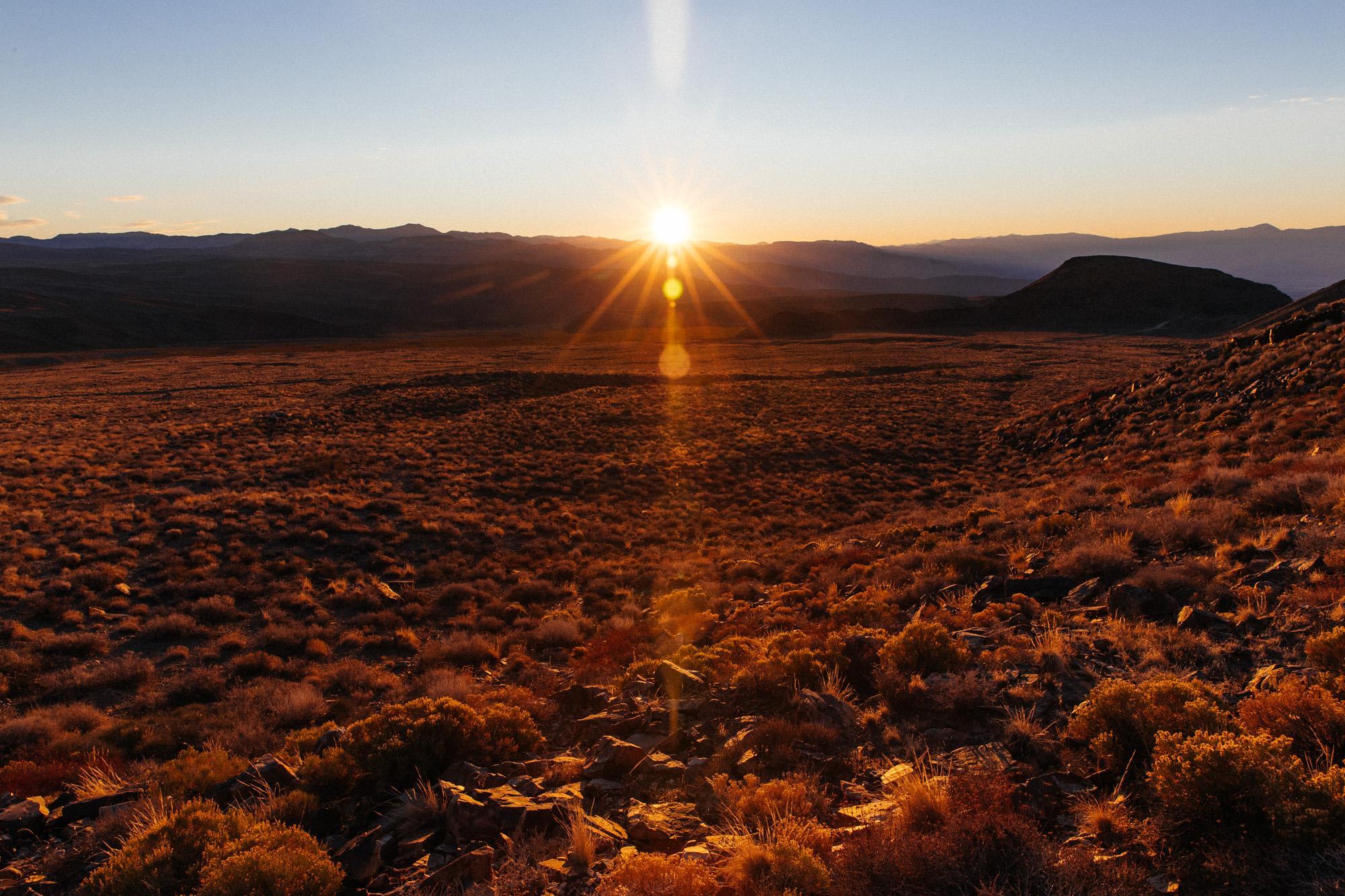 When the sun cracks, the desert stands still.