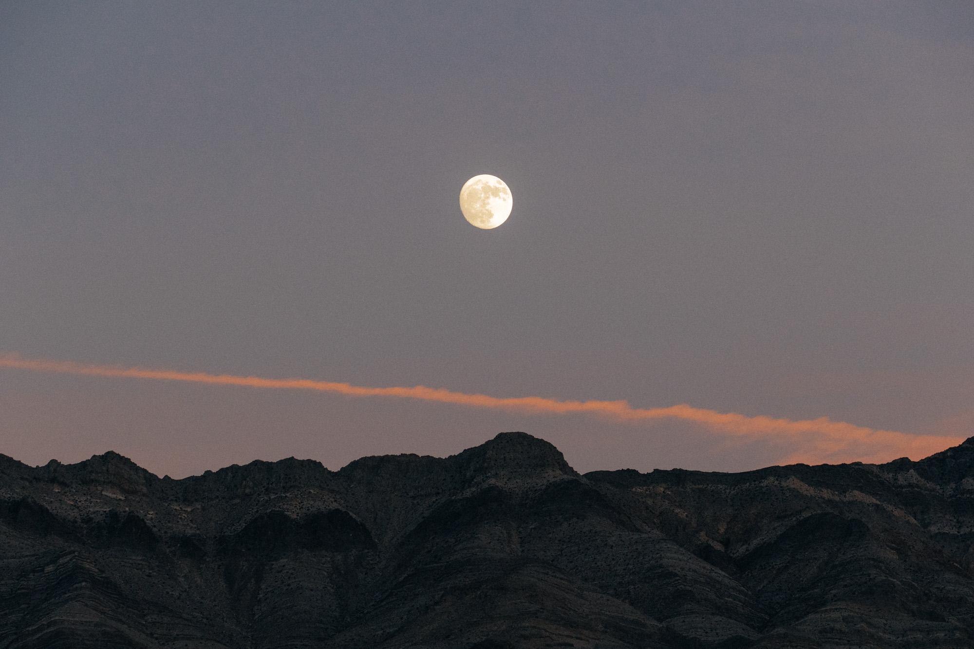 Waning moon, Last Chance Range