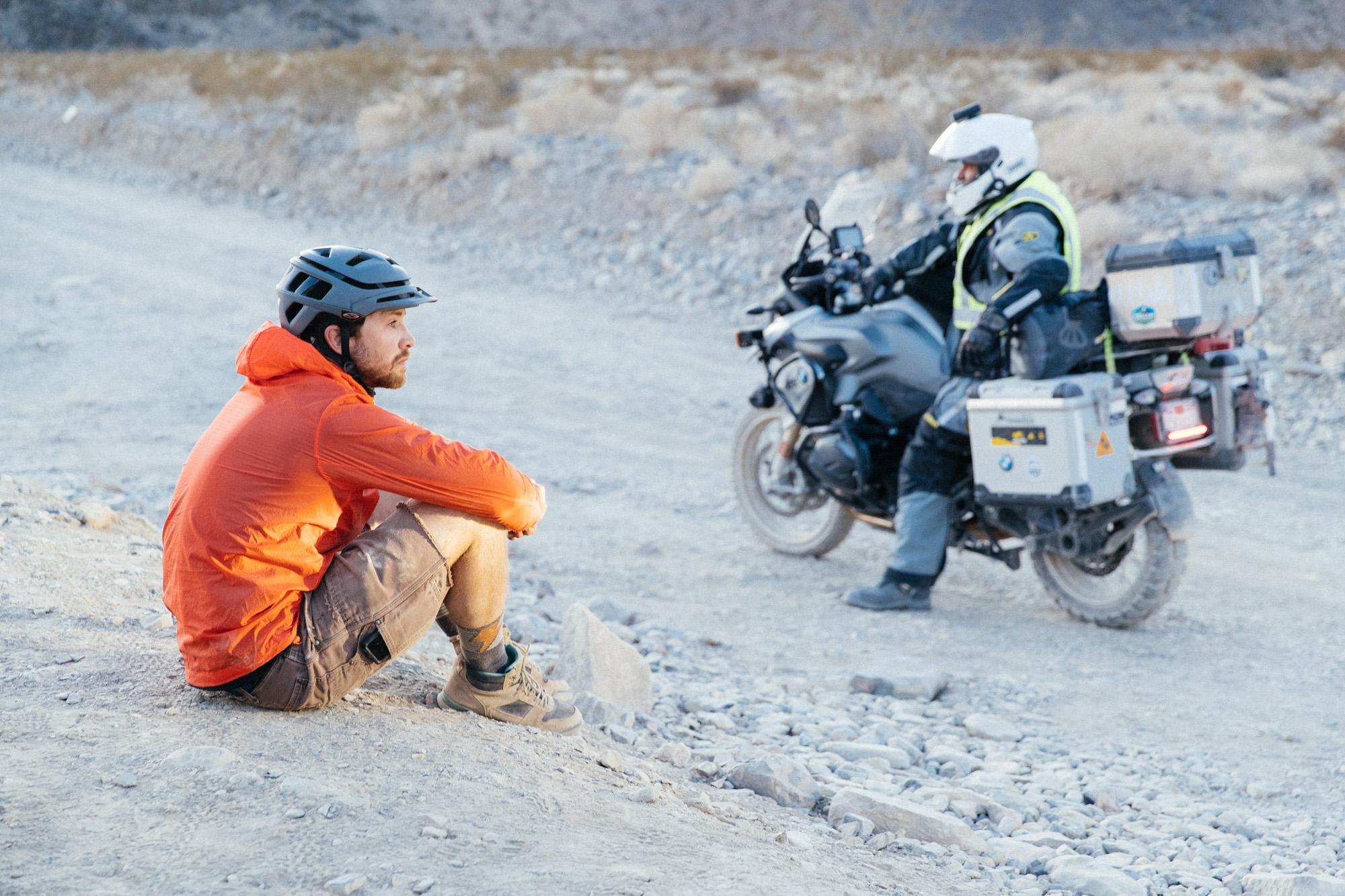 Bo, chatting with the moto tourists.