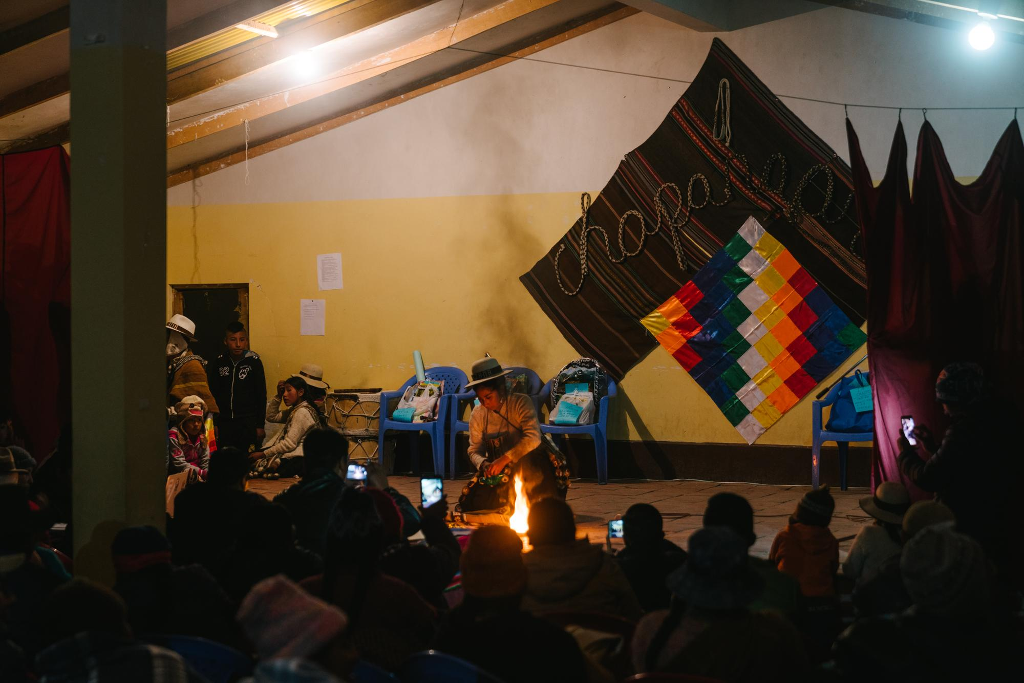 Aymara talent show night in Sajama village