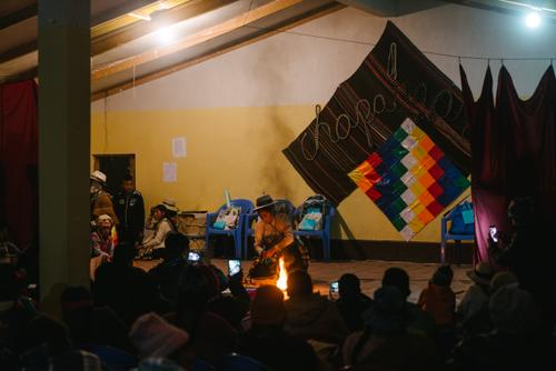 Aymara talent show night in Sajama village