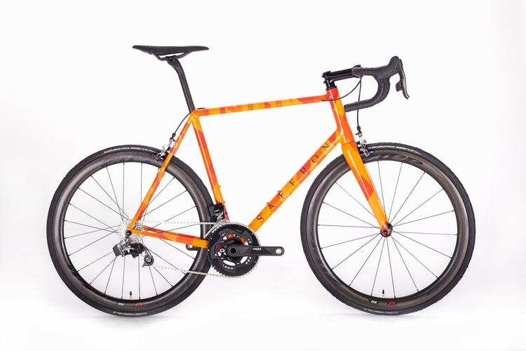 Saffron Frameworks: Danny's Bridget Riley-Inspired Road Bike