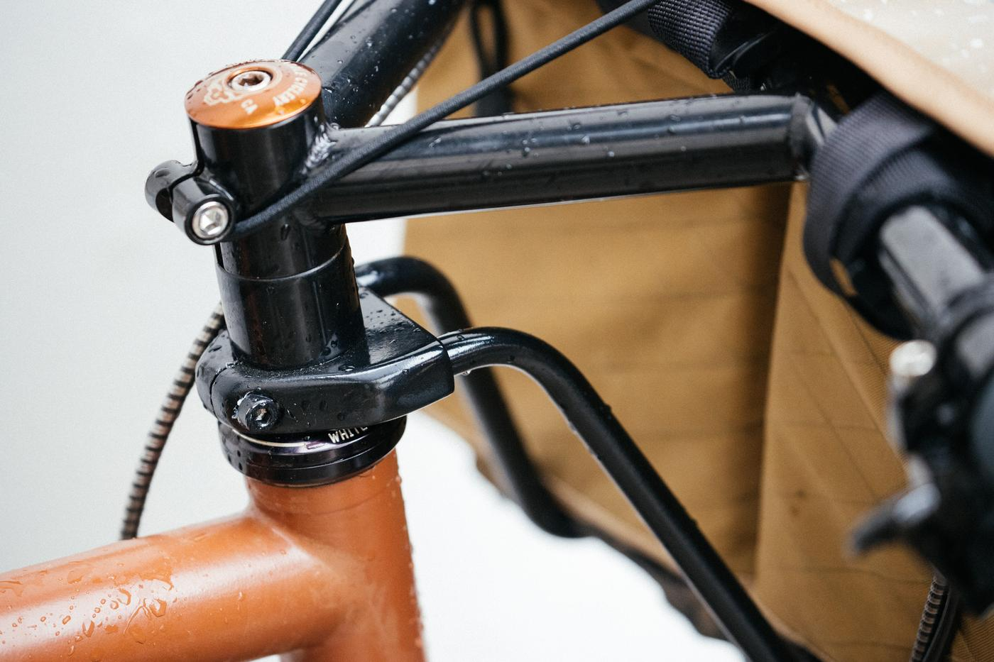 The Tim Tas + Rek Ahead Steerer Rack Saves Your Saggy Handlebar Bags