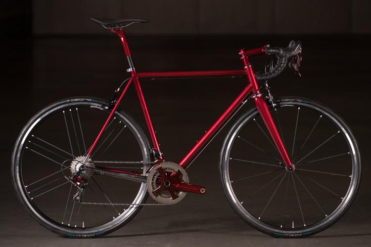 2018 NAHBS: Red Enigma Extensor Road with Candy-Coated Campagnolo Record