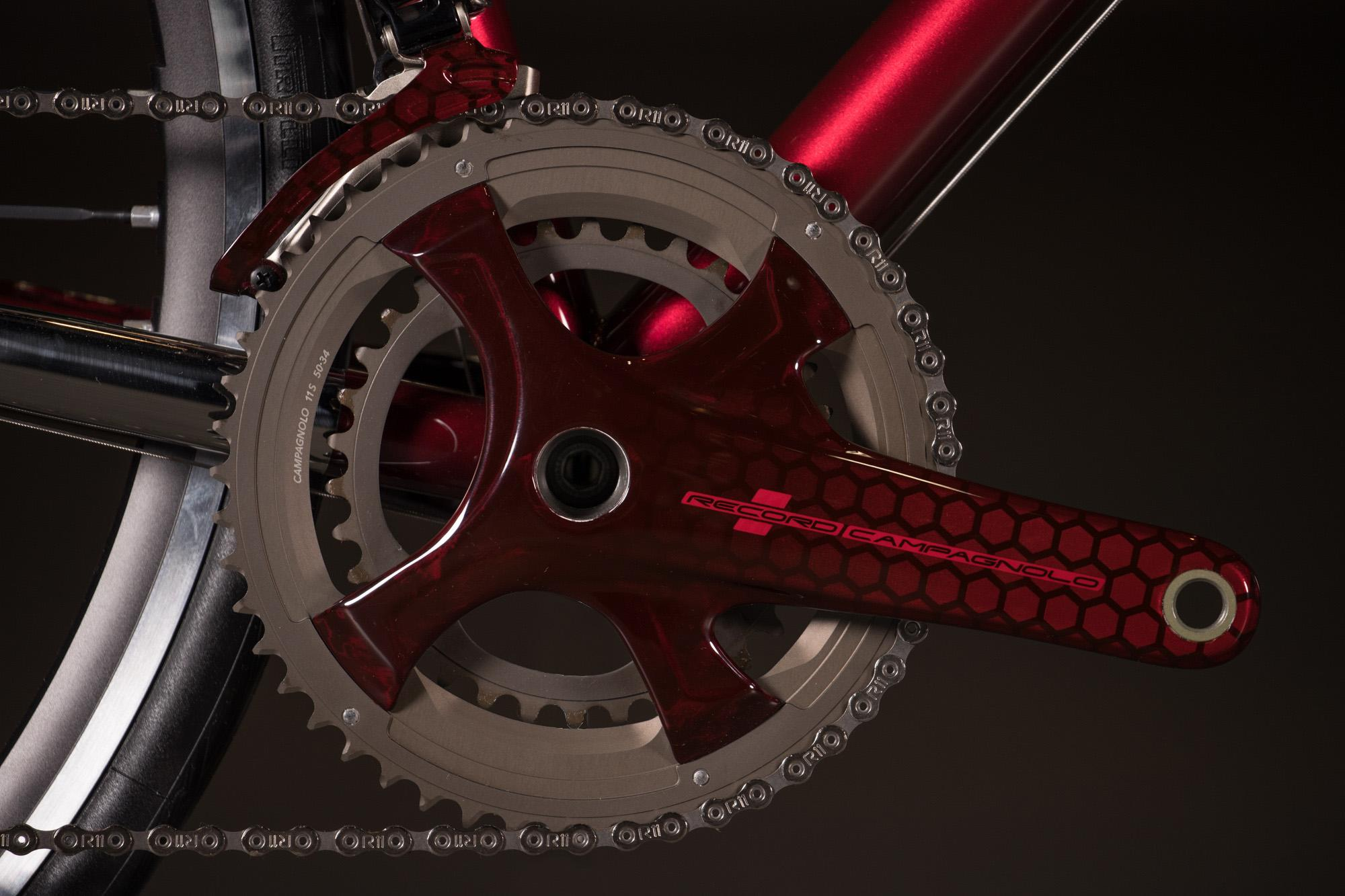 2018 NAHBS: Candy Red Enigma Road with Campagnolo Record