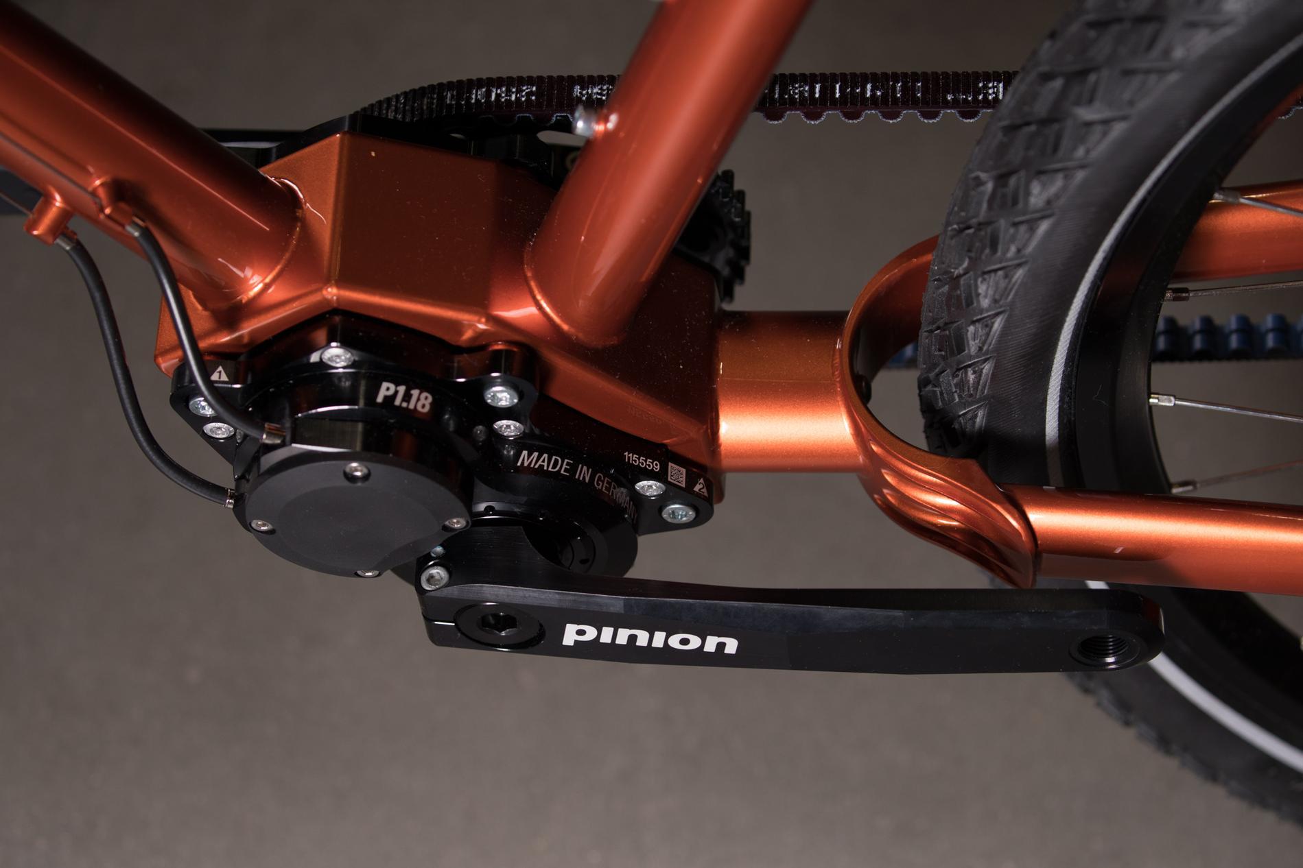 2018 NAHBS: Sunset Fade Co-Motion Pangea with Pinion Touring Bike