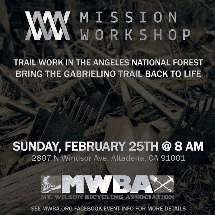 Work on That Trail This Weekend with Mission Workshop and MWBA