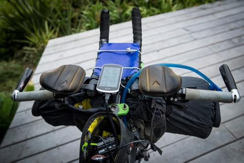 Tristan Rawlence's set up for 2018 Tour Aotearoa brevet traversing 3000km from Cape Reinga, to the Bluff, New Zealand. (Northern  tip of North Island to the Southern tip of the South Island)