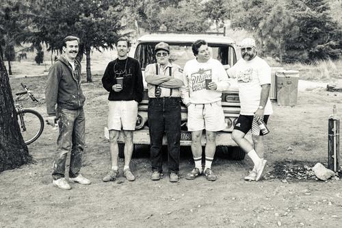 Hanging at Henninger after a Pancake Breakfast.  Tim Murphy, Joe Chromiak, Alan Armstrong, Al Seims, and Lance Baker