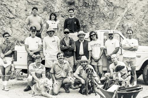 ~1988, trail work on the connector trail from Mt Lowe Rd to Echo Mtn