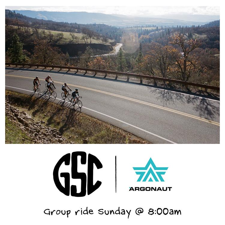 Come Ride with Argonaut and GSC this Sunday!