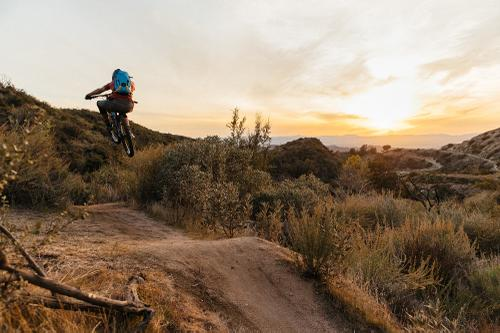 Riding Mount Lukens with Jeff