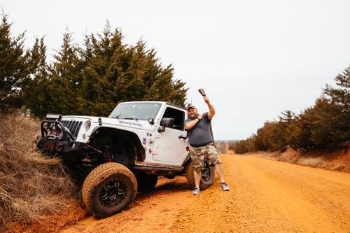 Flexin' - props to the Red Dirt Jeep Club for offering up their Saturday for neutral support. At least they had fun!