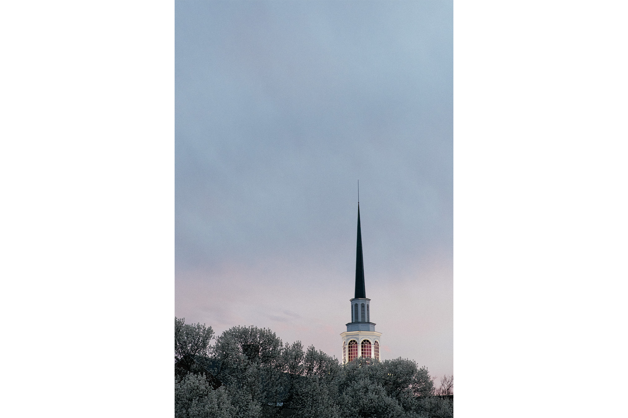 Spire at sunset.