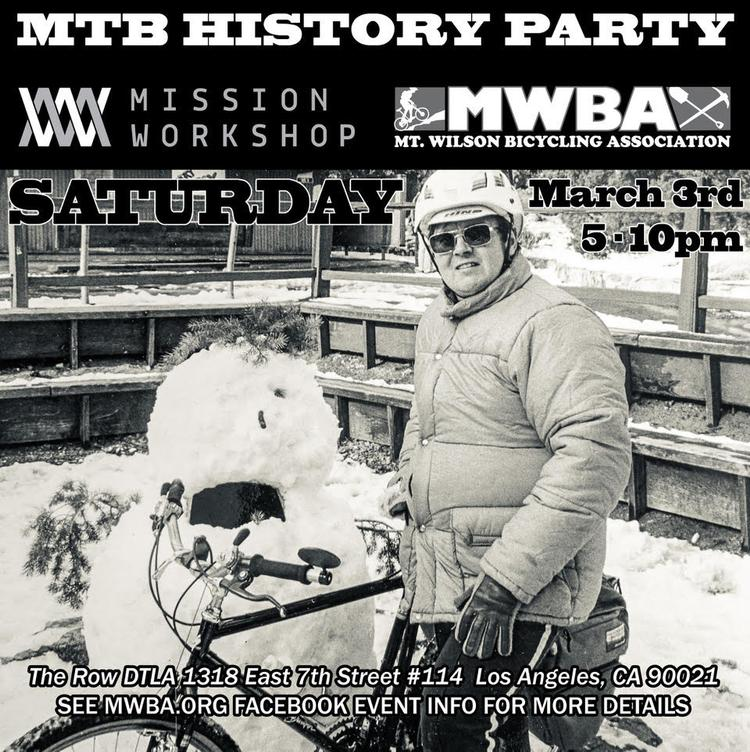 A MTB History Party with MWBA and Mission Workshop