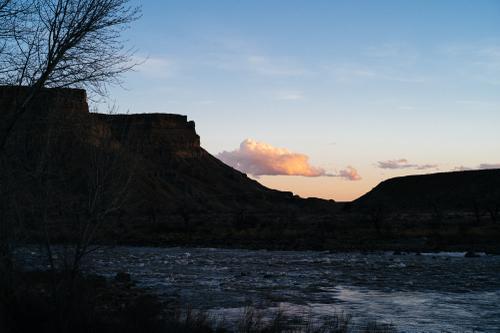 Campsite sunset