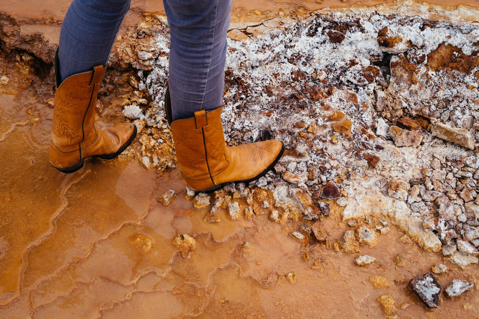 Kirstin's boots.