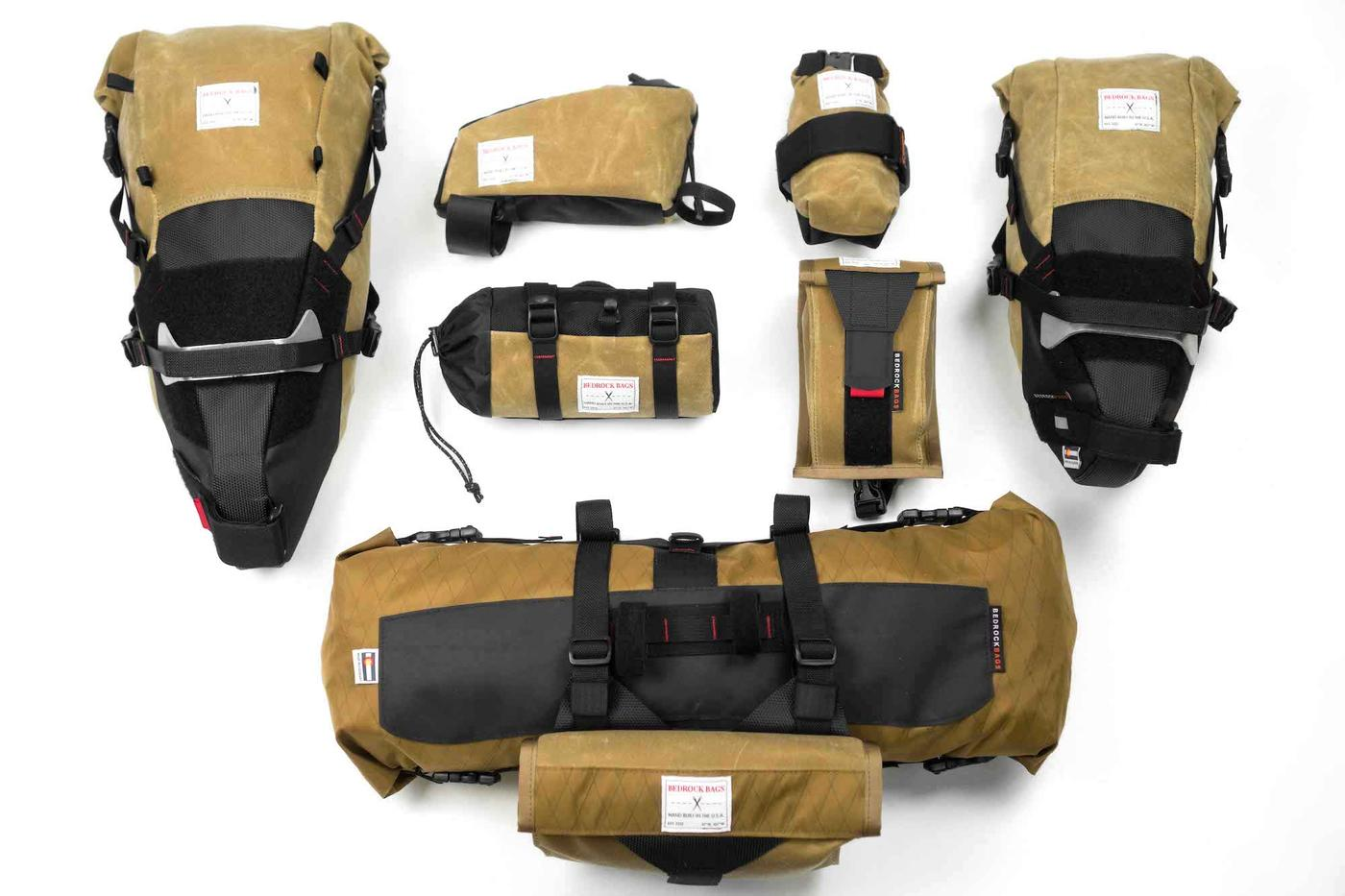 Bedrock Bags' Limited Edition Spring 2018 Waxed Canvas Bikepacking Bags