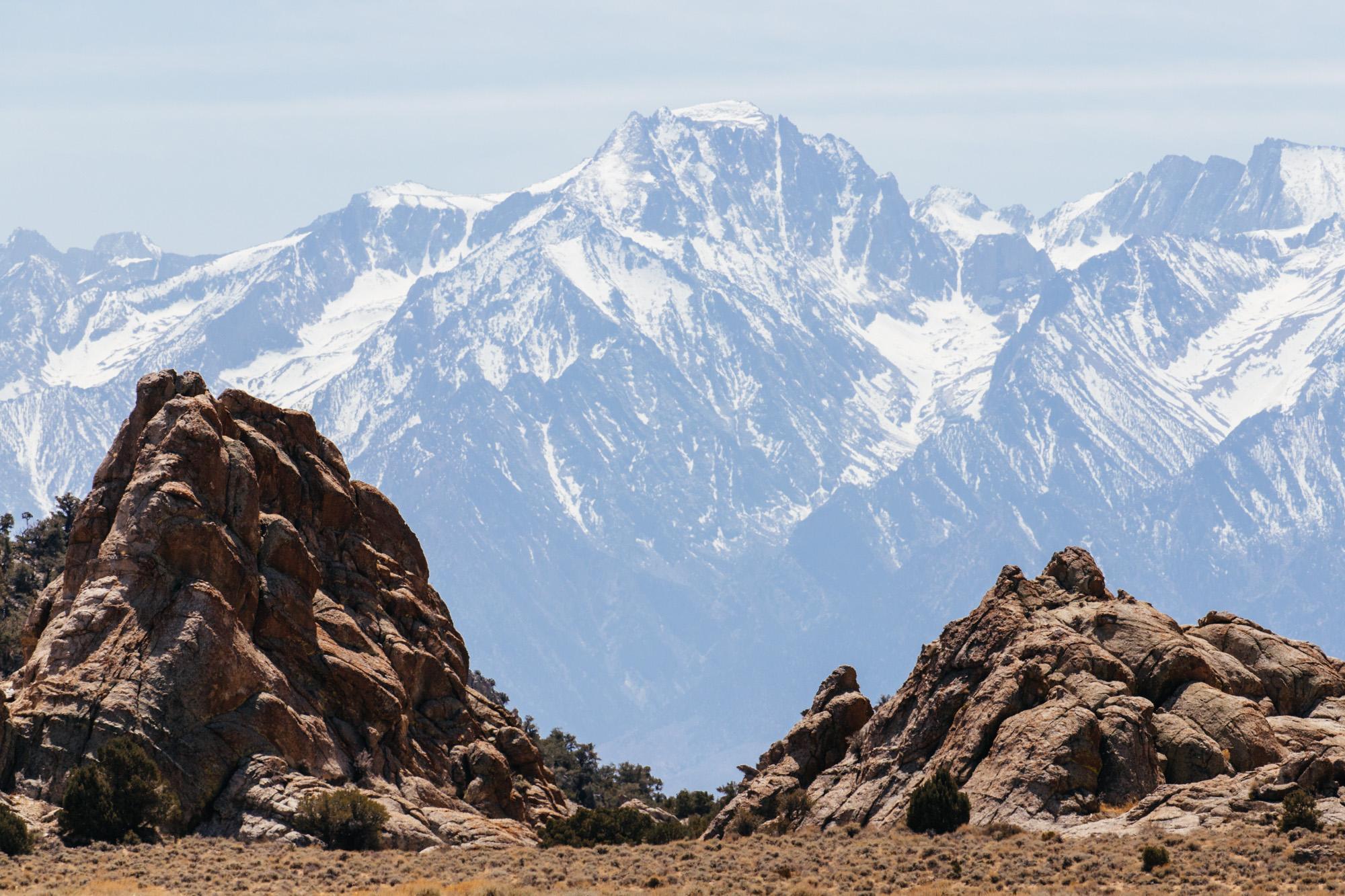The Sierra backdrop