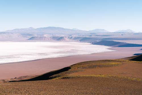 The edge of Argentina's second largest salt flat.