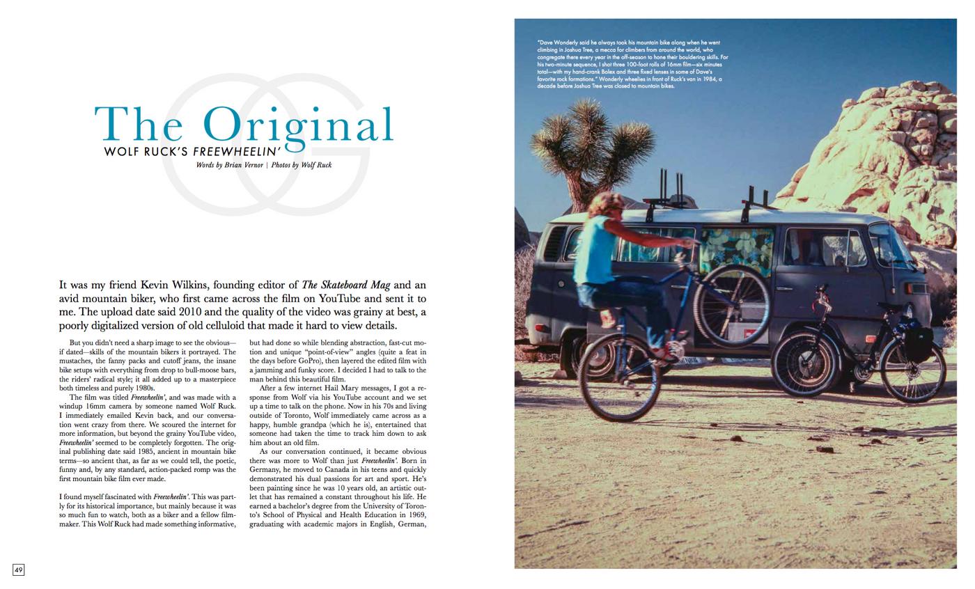 Wolf Ruck's Freewheelin' Article in Freehub Magazine