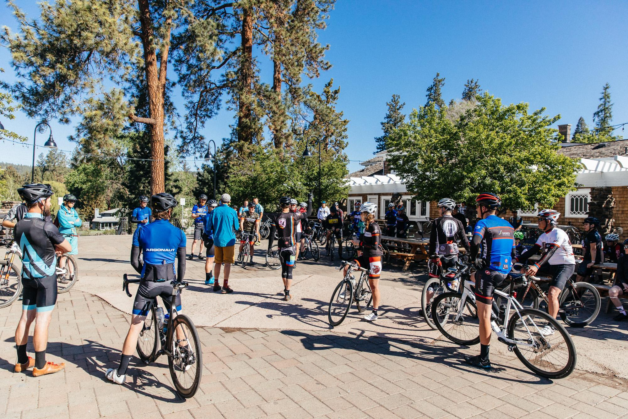 Riders met at 8:30 at Crow's Feet Commons