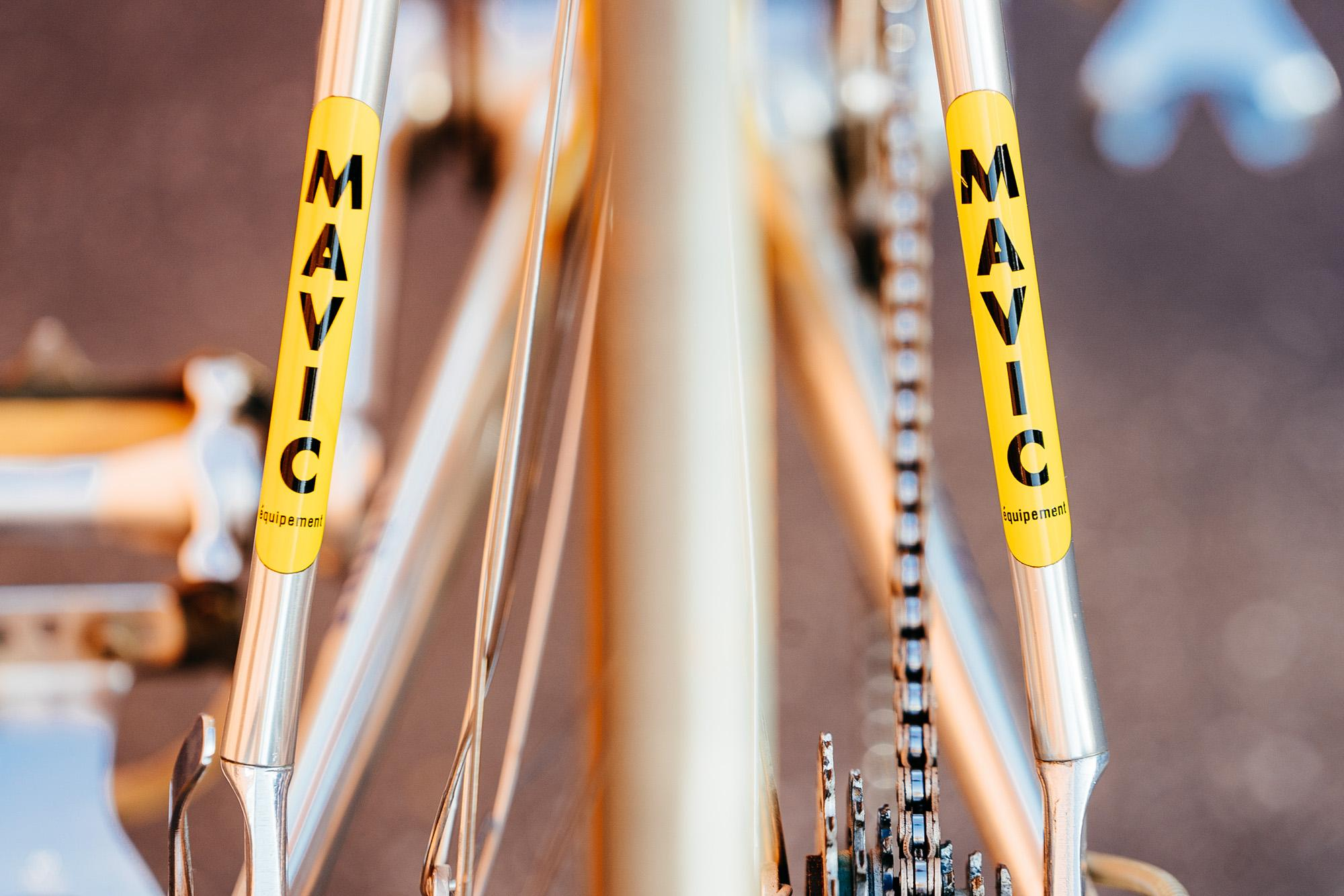 Chuck from Velo Retro's Vitus Kas Team Bike Built with Mavic