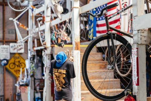 Inside Petaluma's Cycle Chvrch Cycles Steel Sanctuary