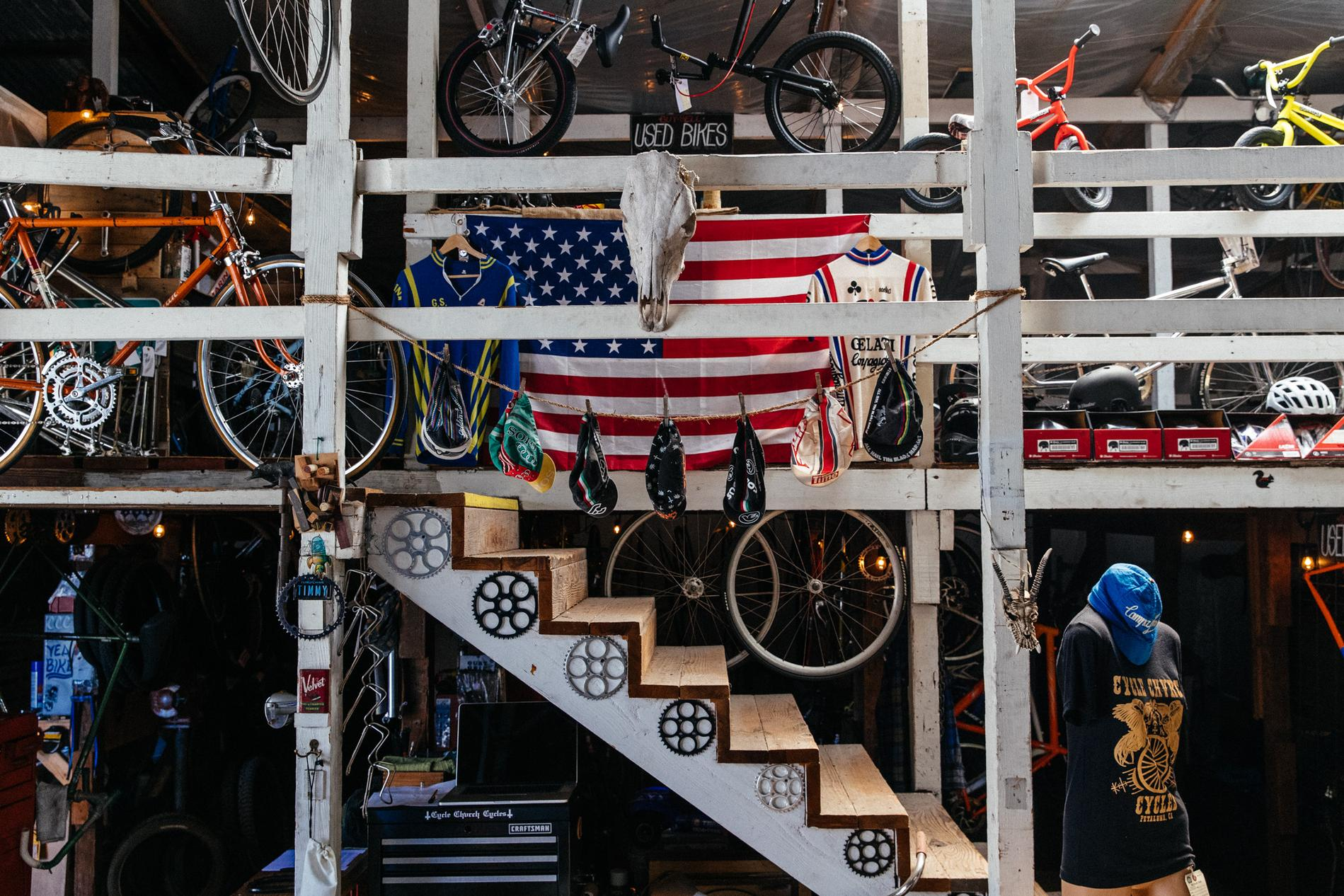 Inside Petaluma's Cycle Chvrch Cycles Steel Sanctuary